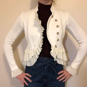 Free People cream blazer in a size 0